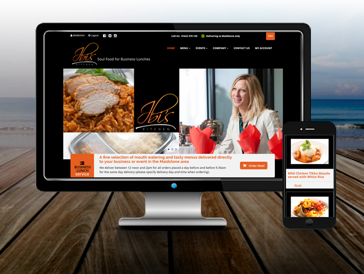 ecommerce restaurant website design maidstone