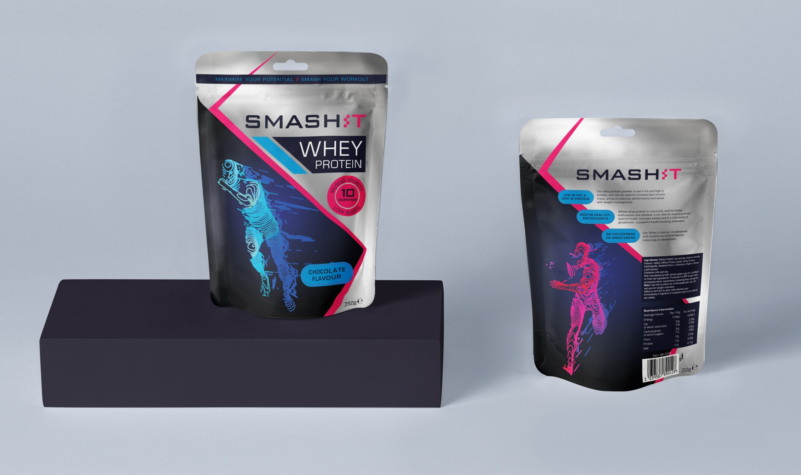Protein Pouch Packaging Design