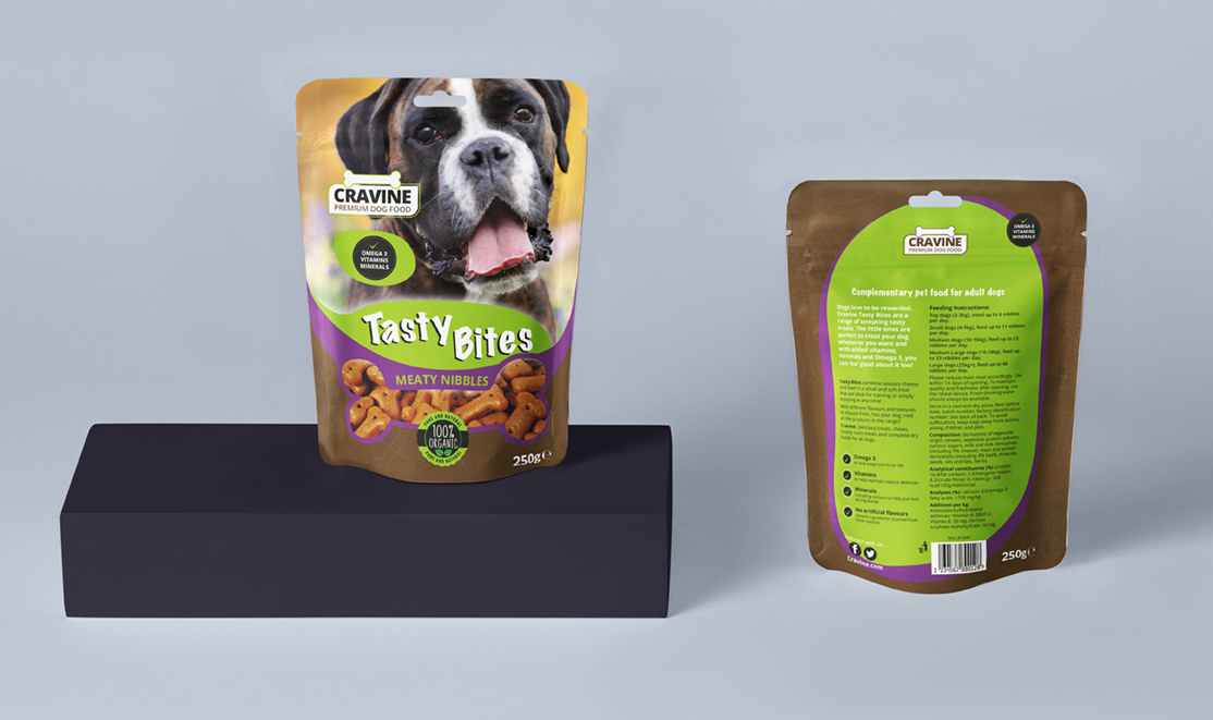 Pouch Dog Food Packaging Design